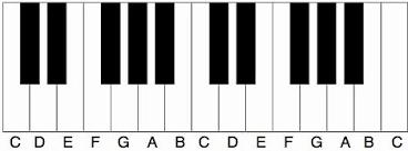 Noten leren lezen piano namen van wite toetsen