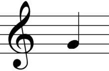 noten leren lezen piano G sleutel met G noot
