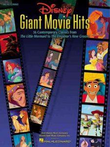 Bladmuziek piano filmmuziek Disney Giant Movie Hits