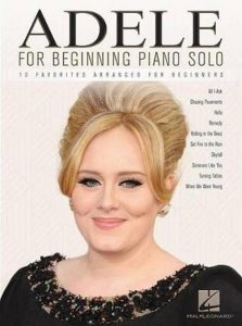 Bladmuziek piano pop pianoboek Adele for Begining Piano Solo