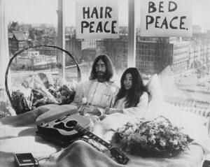 bladmuziek piano Imagine John Lennon bed in