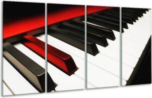 origineel cadeau muziek glasschilderij piano