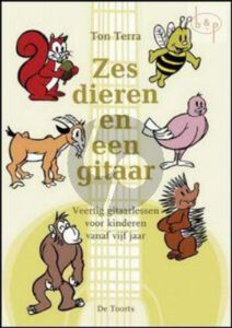 Gitaarboek voor beginners kinderen 6 dieren en een gitaar