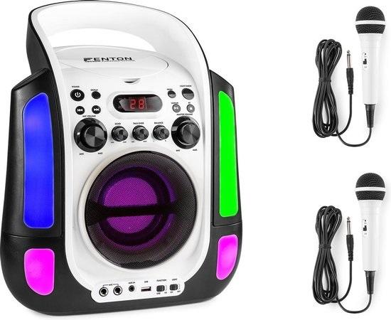 Karaokeset voor TV met tekst2 microfoons wit