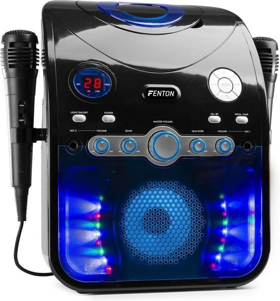 Karaokeset met tekst voor TV 2 speakers fenton