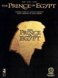 Bladmuziek piano the Prince of Egypt